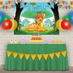 Striscione Bambi - carta cm 140x100 personalizzato