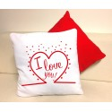 Cuscino Bianco/Rosso San Valentino - I love you